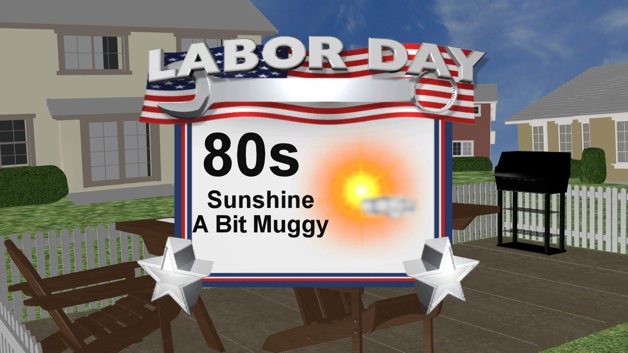 Sunny and Warm for Labor Day, Some Rain This Week