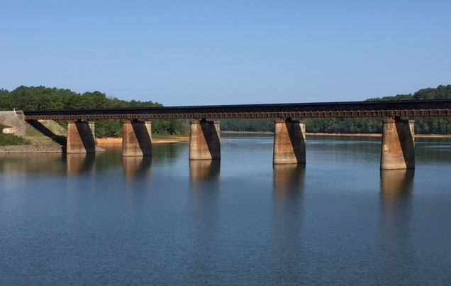 The coroner said the victim is believed to have jumped from the railroad trestle (FOX Carolina/ Sept. 4, 2017)