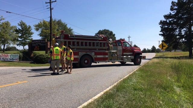Scene of fatal hit and run on Flat Rock Road. (9/4/17 FOX Carolina)