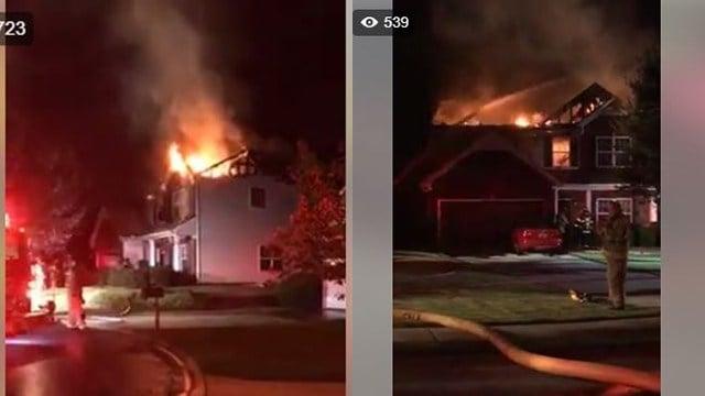 House fire in Creekwood subdivision. (9/4/17 FOX Carolina)