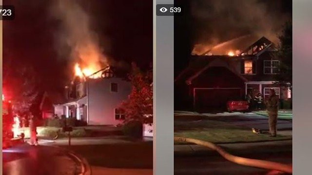 House fire in Creekwood subdivision. (9/4/17 FOX Carolina)