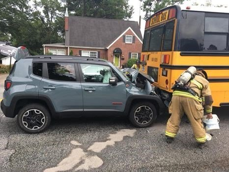 School bus crash in Greenwood (Source: Greenwood PD)