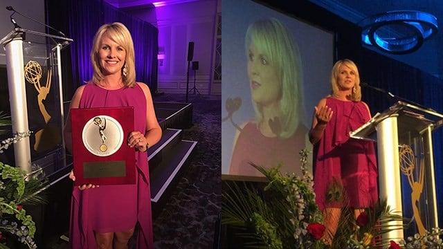 Diana Watson at the Silver Circle ceremony (Sep. 8, 2017/FOX Carolina)