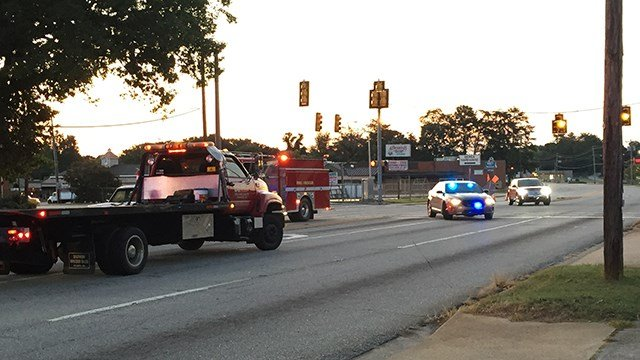 Scene on Farrs Bridge Road at Sulphur Springs Road. (9/9/17 FOX Carolina)