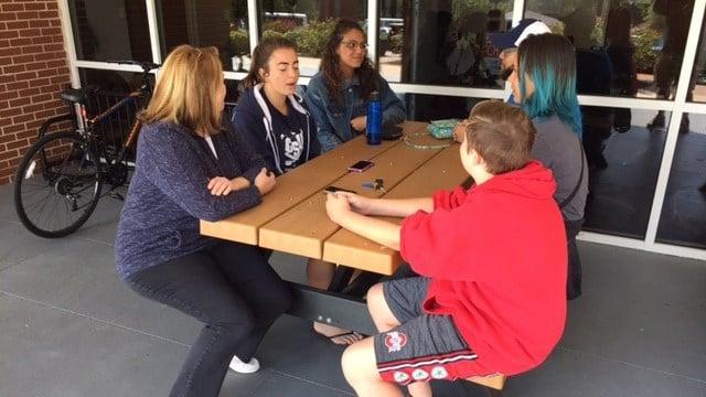 Evacuees at NGU. (9/9/17 FOX Carolina)