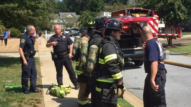 Scene of house fire in Greer. (9/9/17 FOX Carolina)