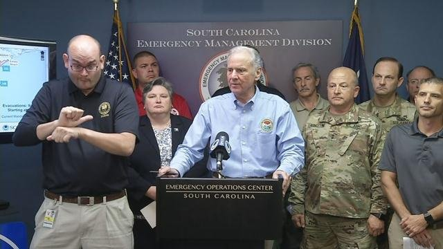 Gov. McMaster with latest on potential Irma impact in SC. (9/9/17 FOX Carolina)