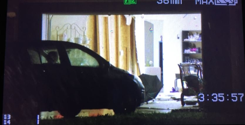 Car into garage (FOX Carolina/ Sep. 12, 2017)