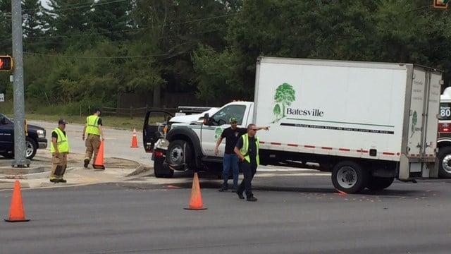 Scene of multi-vehicle crash in Greenville County. (FOX Carolina/ 9/14/17)