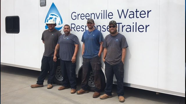 (From L to R) Rick Covington, Allan Vindas, Ben Shivers and Jesse Poplin (Source: Greenville Water)