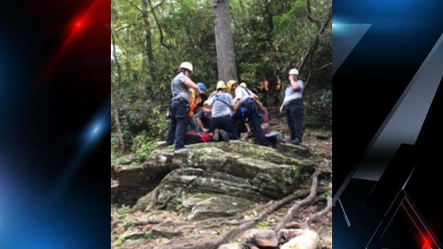 Rescue underway for injured hiker in Mountain Rest. (Source: Oconee Co. Emergency Services)