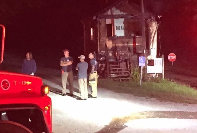 Concrete Recycling gatehouse fire (FOX Carolina/ Sep. 18, 2017)