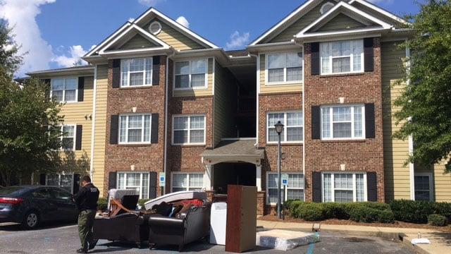 Scene where eviction notice was served (Sep. 18, 2017/FOX Carolina)