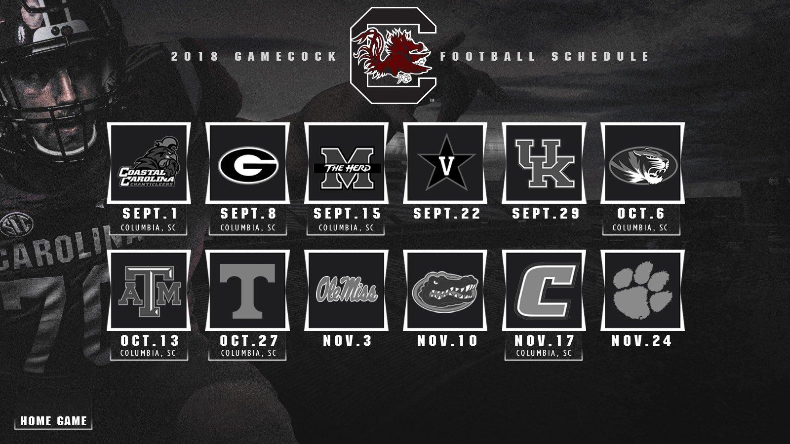 USC 2018 Schedule (Source: USC Athletics)
