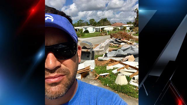 Greenville Officer Smith helping with Hurricane Irma relief efforts in FL. (Source: GPD)
