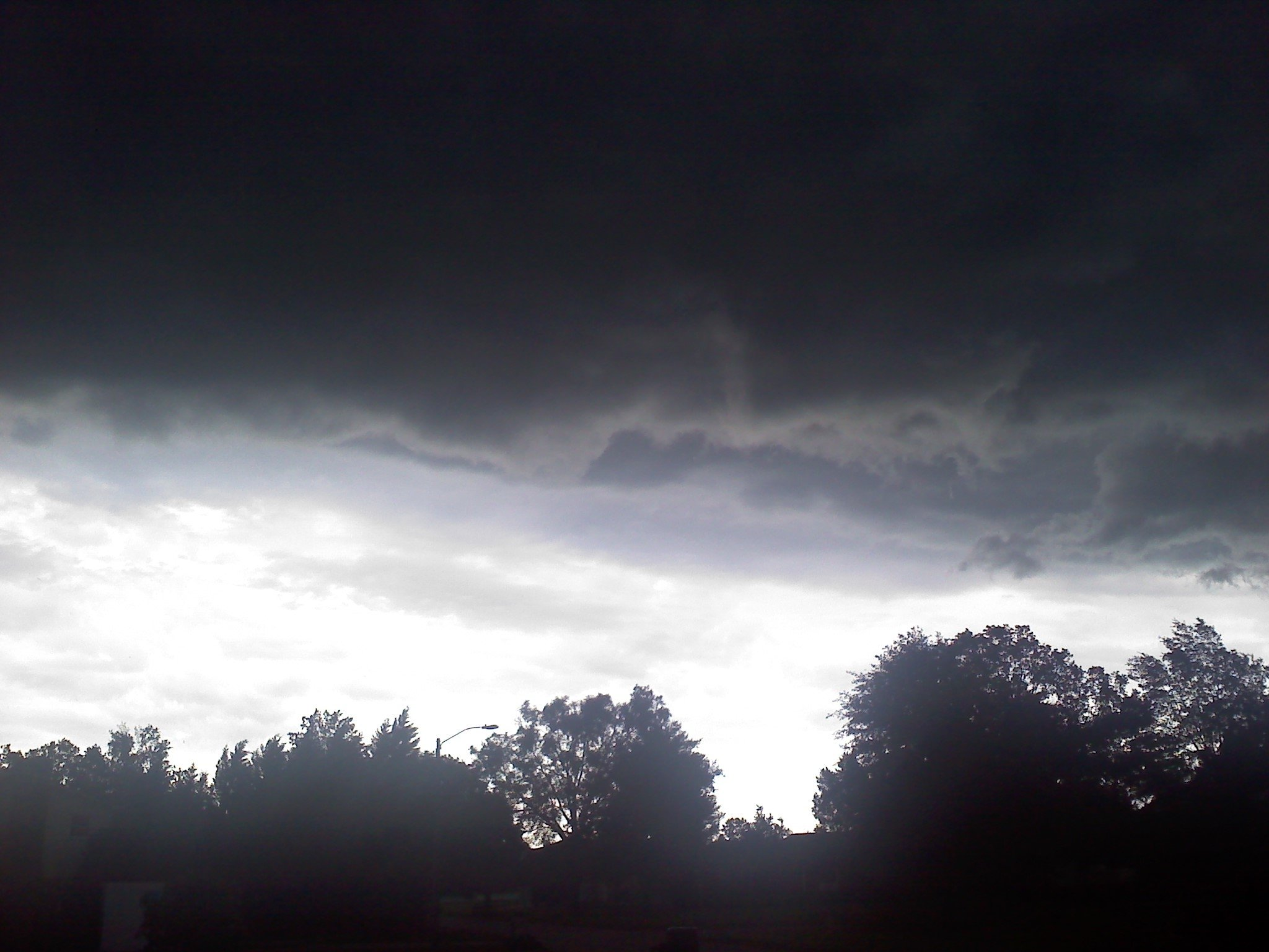 Dark cloud over Simpsonville on Wednesday. Photo from Gina, a FOX Carolina viewer.