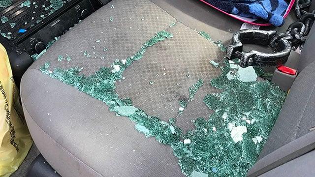 Damage from Spartanburg drive-by (Sep. 20, 2017/FOX Carolina)