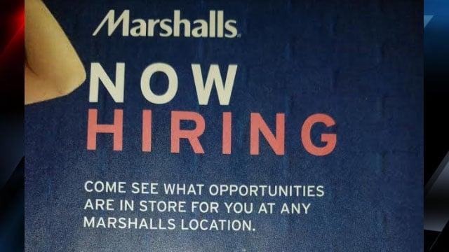 Marshalls hiring event flyer (Courtesy: Marshalls)