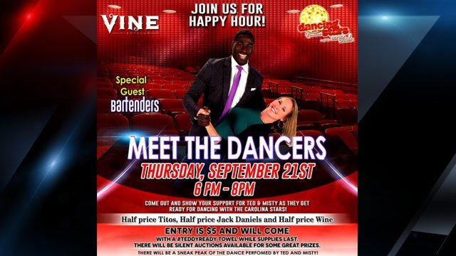 Flyer for the Meet the Dancers Happy Hour event (Provided)