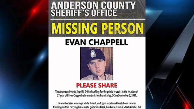 Help deputies find missing Easley man Evan Chappell. (Source: ACSO Facebook)