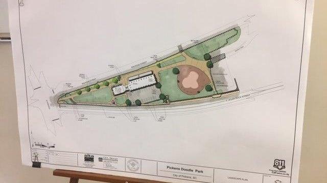 Doodle Park under construction in Pickens (FOX Carolina/ 9/21/17)