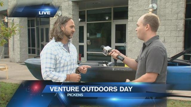 Pickens promotes outdoor activities in weekend festival