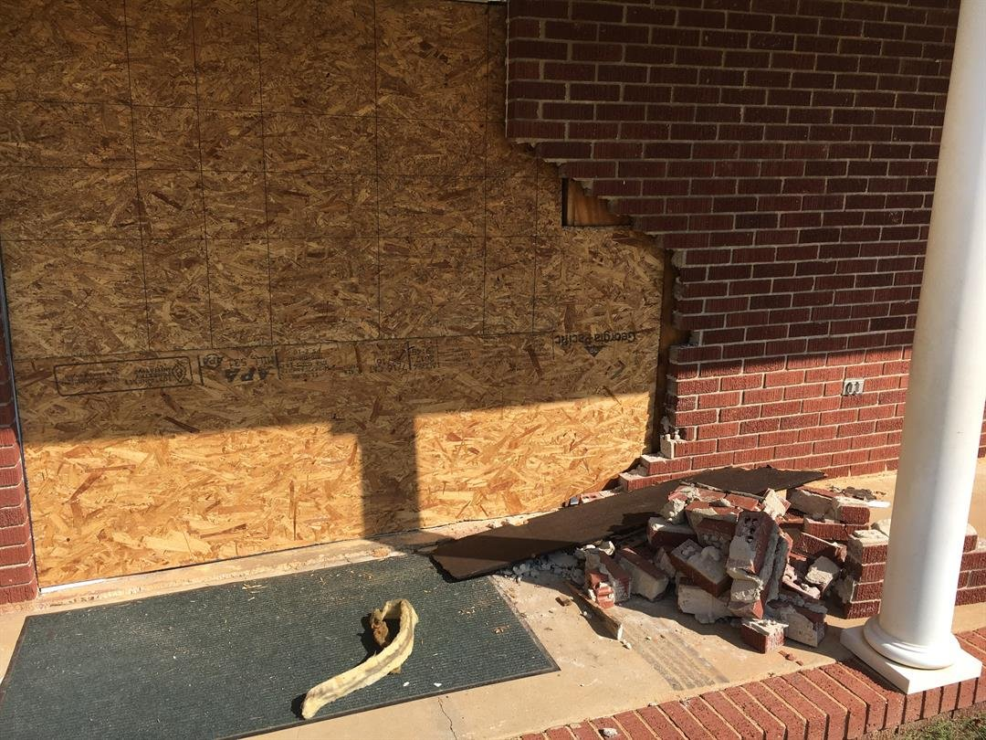 Vandalism at Cedar Shoals Baptist Church. (9/25/17 FOX Carolina)