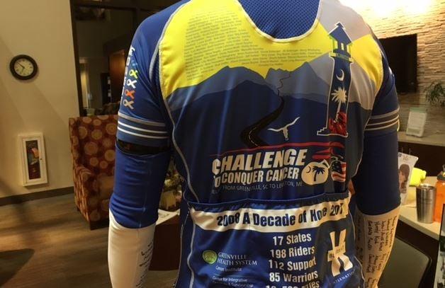 A C3 rider shows off the gear (FOX Carolina/ 9/26/17)