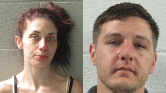 Lindsay Daniel and Phiffer Houck (Source: Henderson Co. Detention)