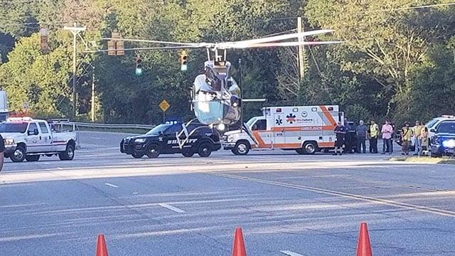 Scene of moped wreck in Anderson Co. (Source: Eye witness)