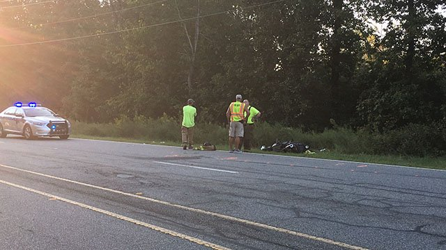 Scene of moped wreck in Anderson Co. (9/26/17 FOX Carolina)