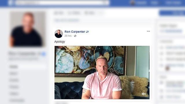 Ron Carpenter issues Facebook apology (Source: Facebook)