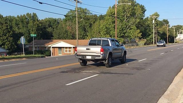Scene of crash involving school bus in Gaffney. (FOX Carolina/ 9/27/17)