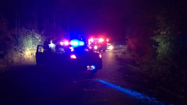 Scene of fatal Iva motorcycle crash. (FOX Carolina/ 9/27/17)