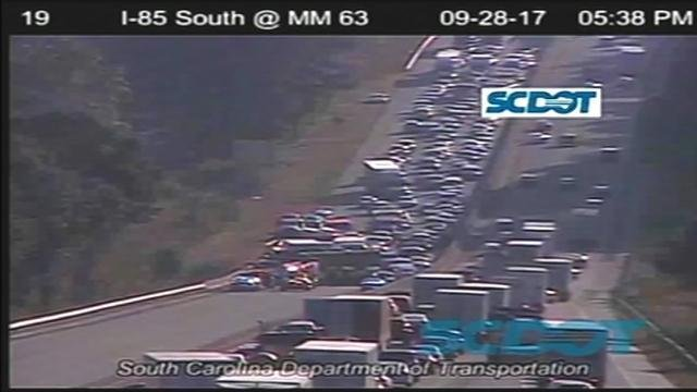 I-85 north shut down (Source: SCDOT)