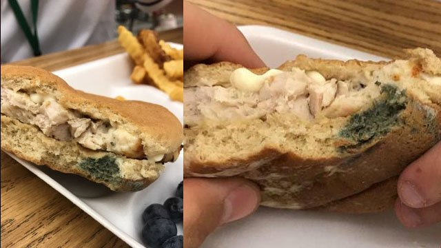 Two photos sent to FOX Carolina showing the sandwich in question (Provided)
