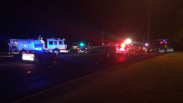 Scene of fatal collision on Piedmont Hwy. (9/30/17 FOX Carolina)