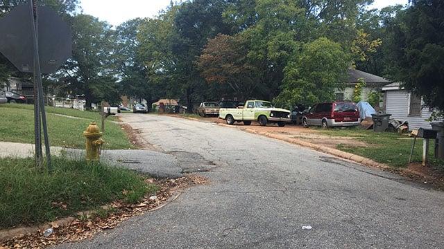 Scene on C Street in Greenville. (9/30/17 FOX Carolina)