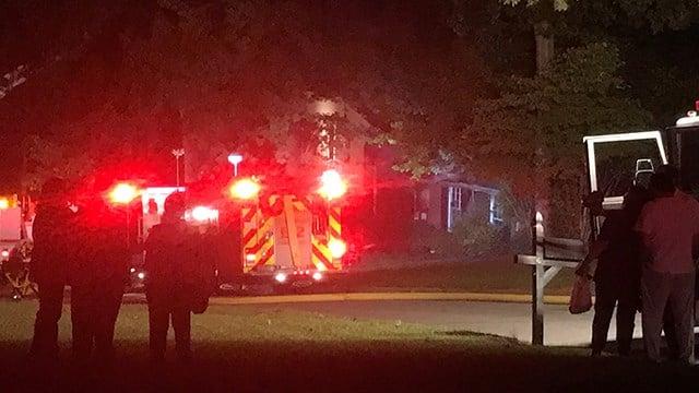 Crews respond to fire at Spartanburg home. (FOX Carolina/ 9/30/17)