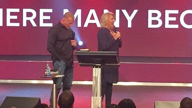 Hope Carpenter speaks at Redemption Church. (10/1/17 FOX Carolina)