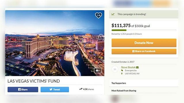Las Vegas Victims' Fund (Source: GoFundMe)