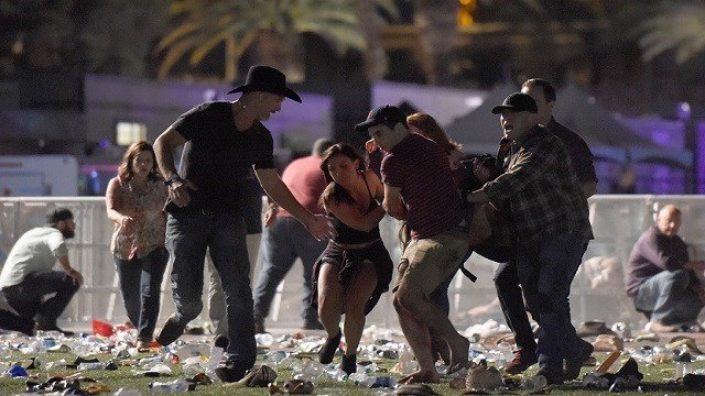 Concertgoers flee Las Vegas Route 91 Harvest Festival (Source: Associated Press)