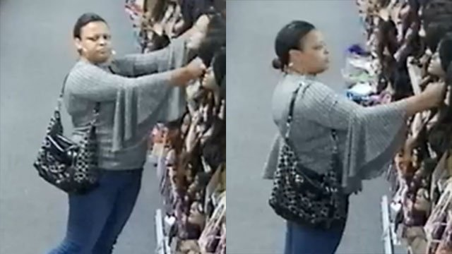 Police say this subject stole a wig from Boom Boom Beauty. (Source: GPD)