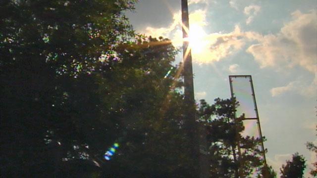 The summer sun beats down on a practice field in Greenville. (July 11, 2011/FOX Carolina)