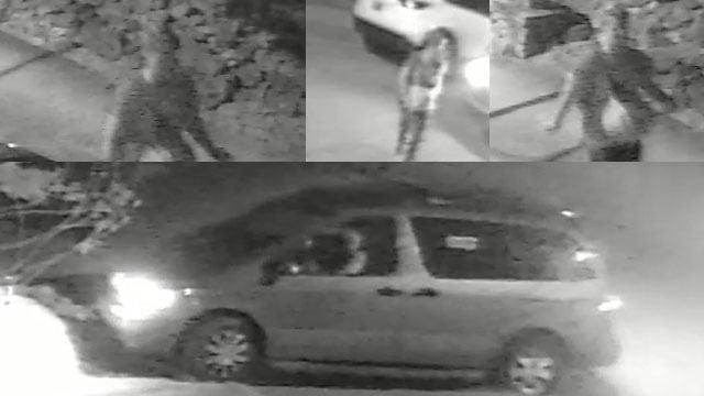 North Main auto break-in suspect and suspect vehicle (Source: GPD)