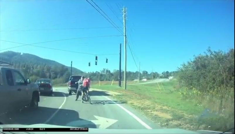 Assault on cyclist (Source: Asheville on Bikes)