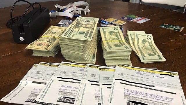 Money seized in investigation (Source: Yemassee PD)