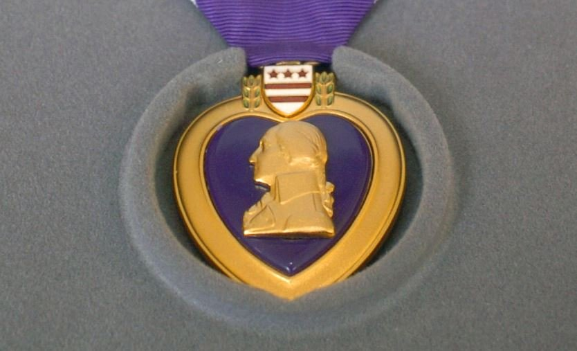 Purple Heart medal (Source: Wikimedia Commons)
