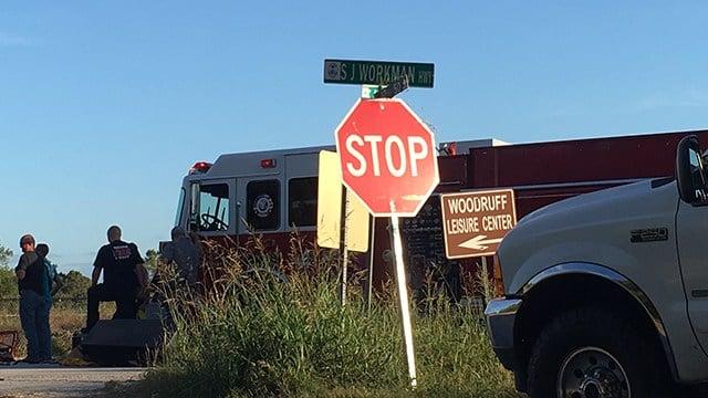 Scene of fatal Woodruff crash (FOX Carolina/ 10/6/17)