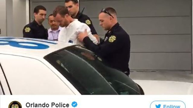 Gray arrested. (Source: Orlando PD Twitter)